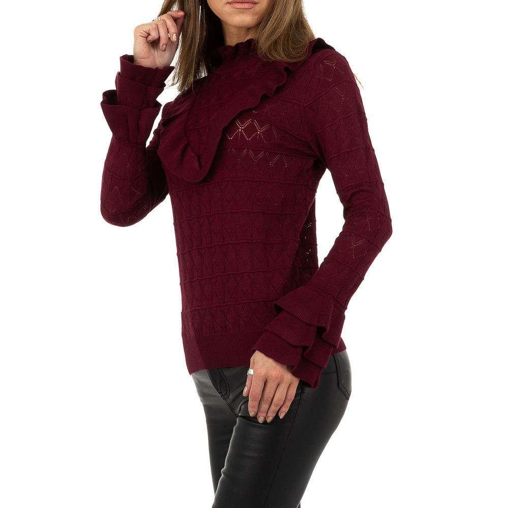 Pulover pentru femei de Drole de Copine Gr. O singură mărime - vin - image 2