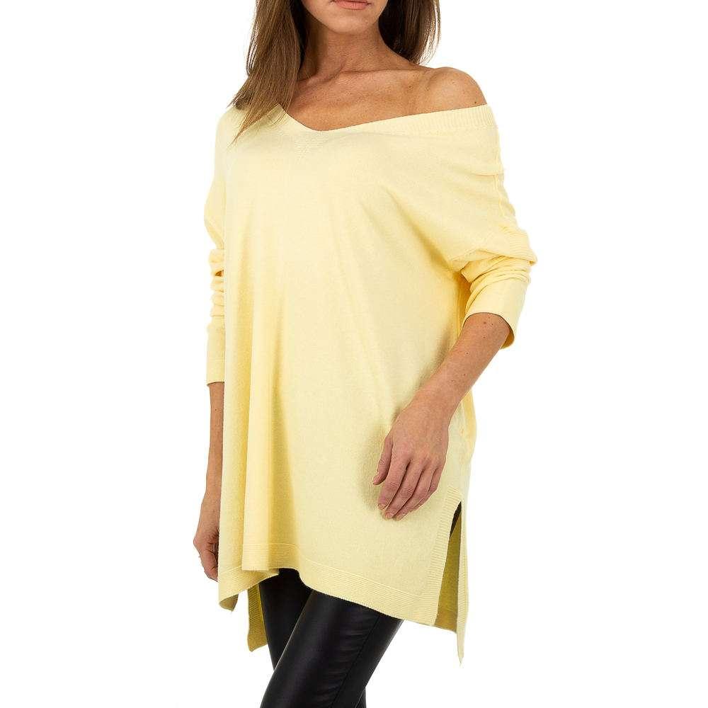 Pulover pentru femei by JCL - galben