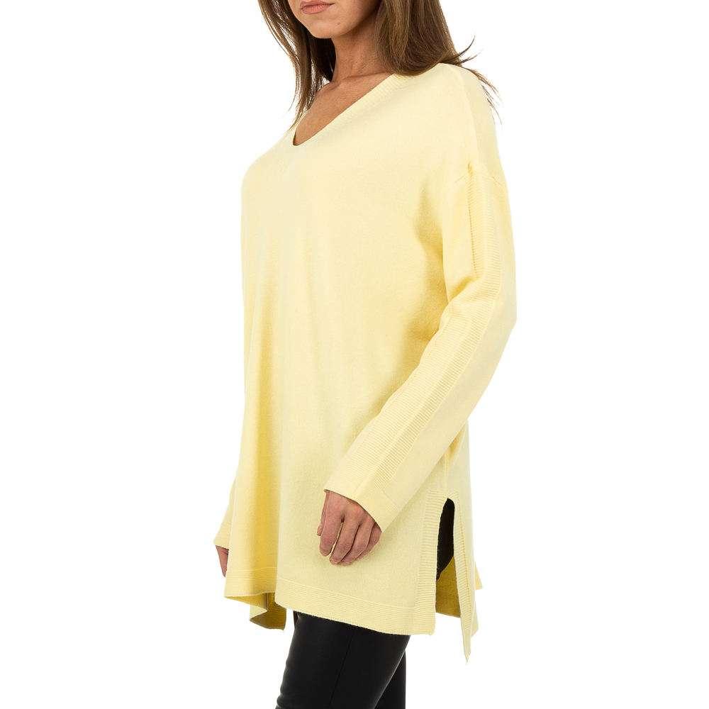 Pulover pentru femei by JCL - galben - image 2
