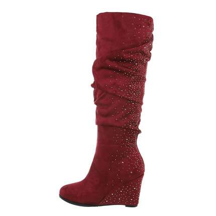 Damen High-Heel Stiefel - bordo