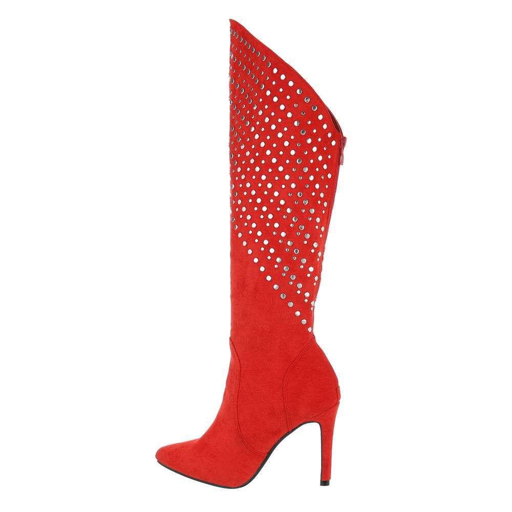 Cizme de damă clasice - roșii