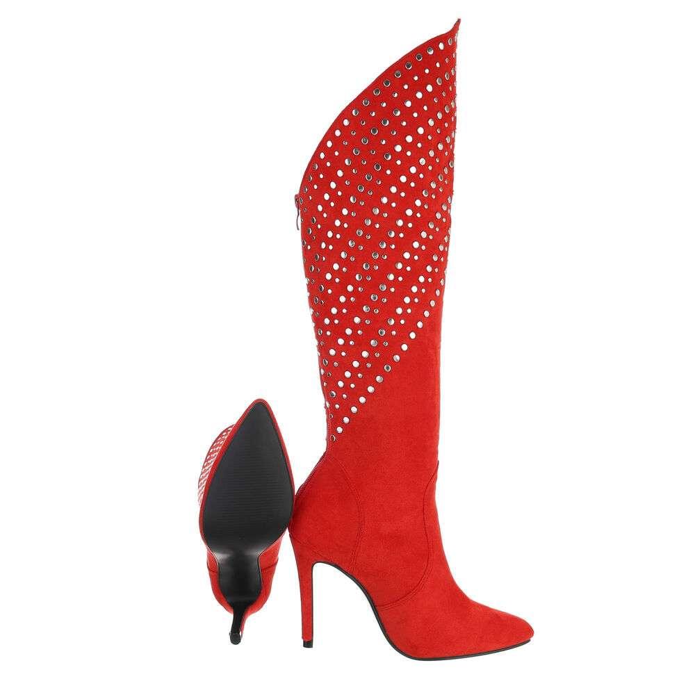 Cizme de damă clasice - roșii - image 2