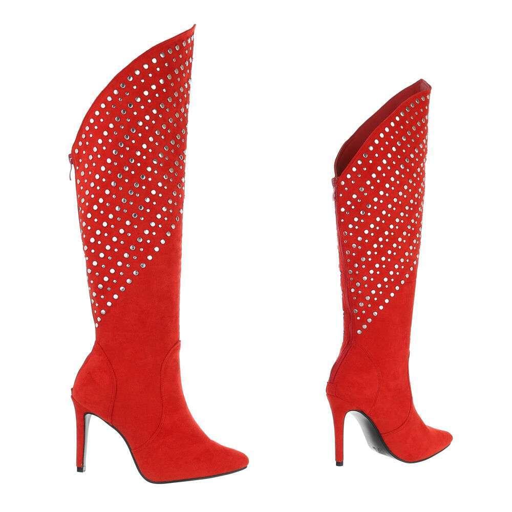 Cizme de damă clasice - roșii - image 3