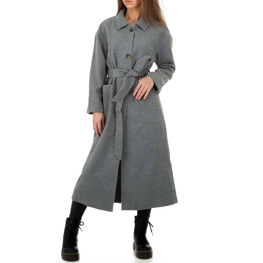 Palton de dama de la Glo storye - gri