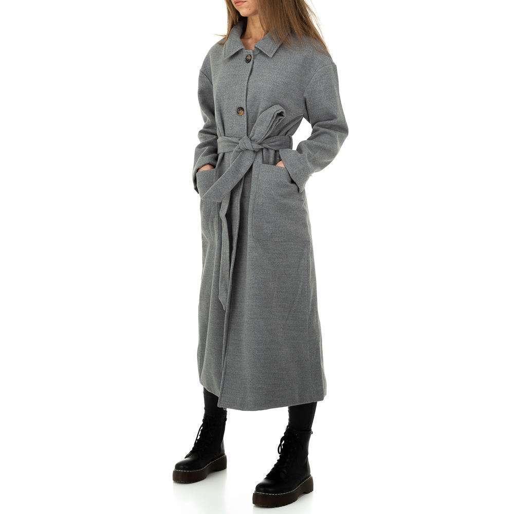 Palton de dama de la Glo storye - gri - image 2