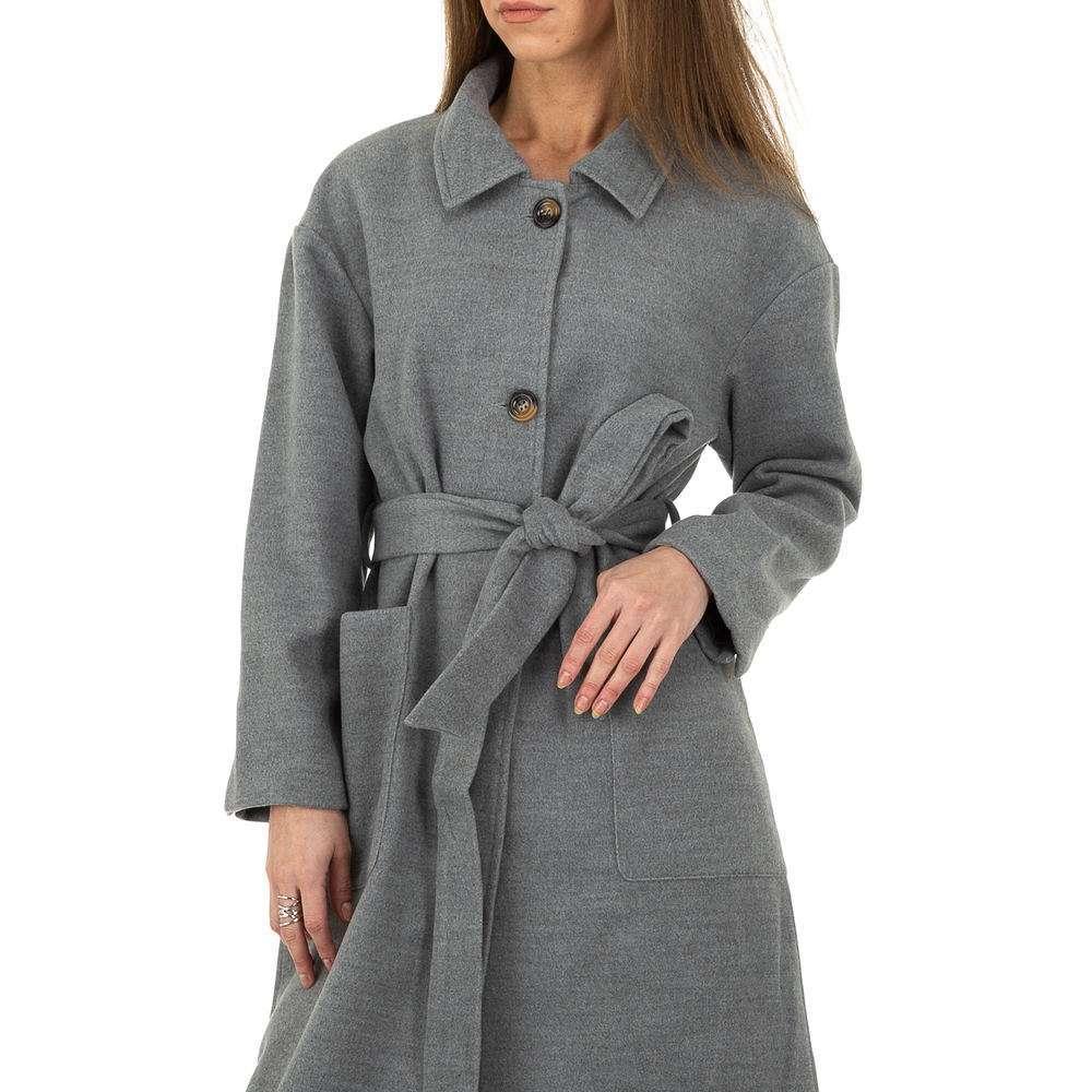 Palton de dama de la Glo storye - gri - image 4