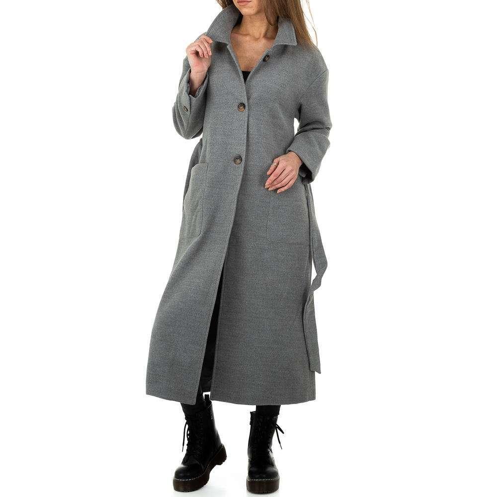 Palton de dama de la Glo storye - gri - image 5