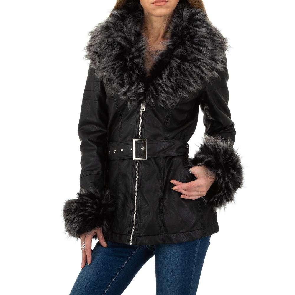Palton de dama de la Glo storye - negru