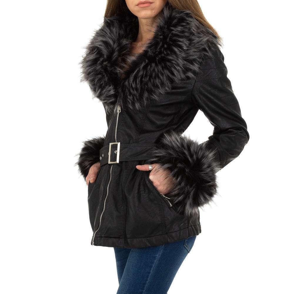 Palton de dama de la Glo storye - negru - image 2