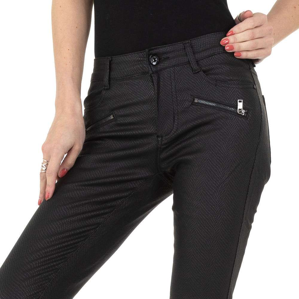 Pantaloni de dama M.Sara Denim - negru - image 4