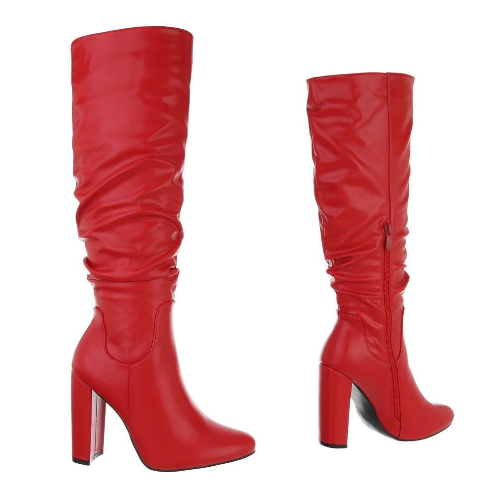 Cizme de damă - roșii - image 3