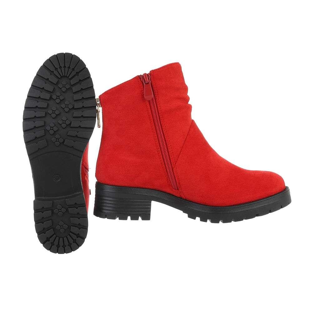 Cizme clasice pentru femei - roșii - image 2
