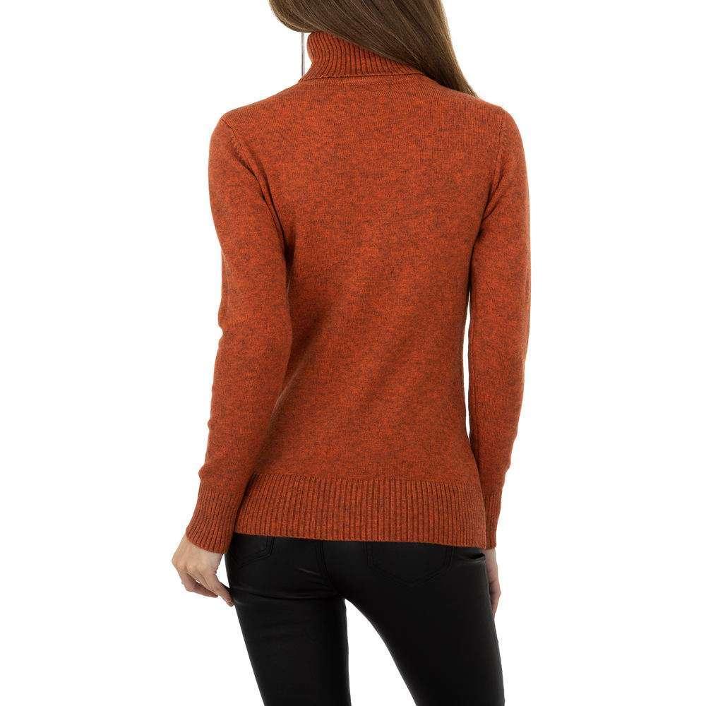 Pulover pentru femei de la Whoo Fashion Gr. O singură mărime - portocaliu - image 3