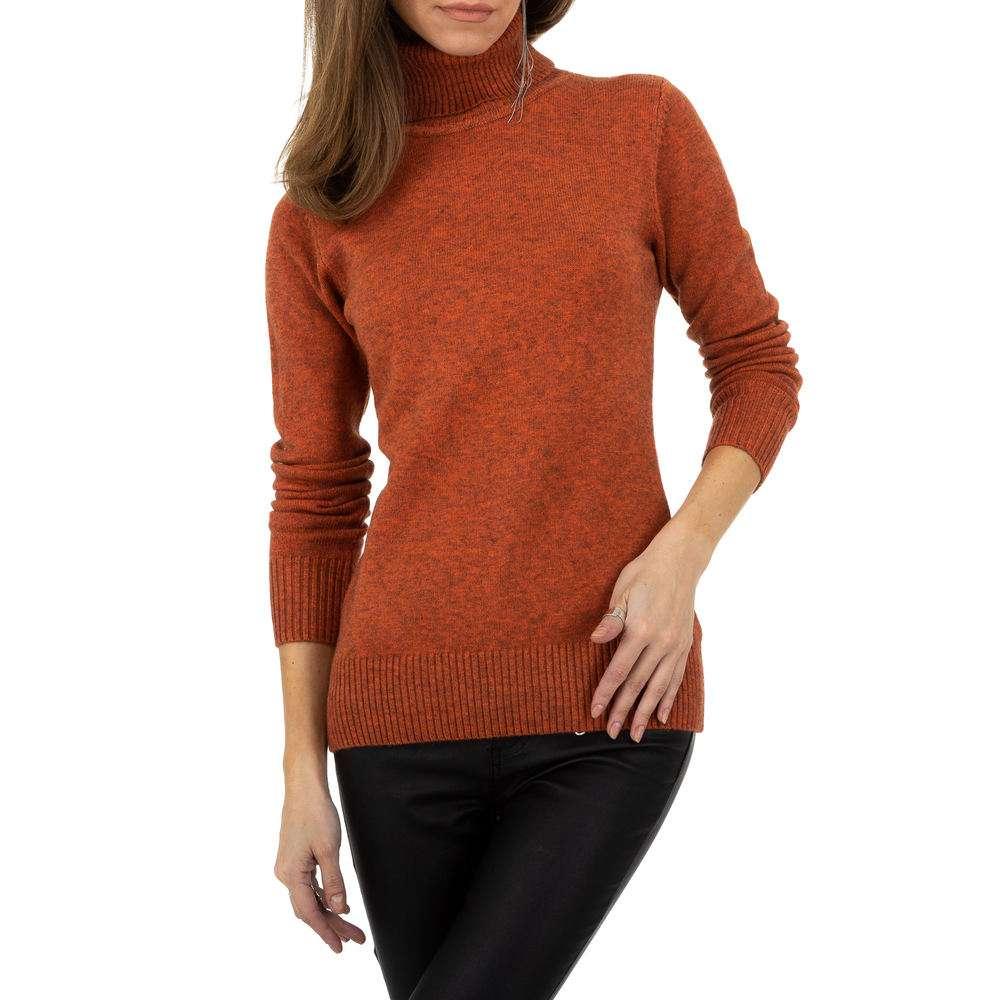 Pulover pentru femei de la Whoo Fashion Gr. O singură mărime - portocaliu - image 4