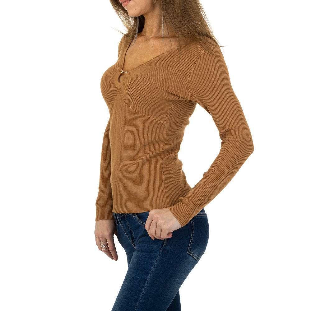 Pulover pentru femei de la Whoo Fashion Gr. O singură mărime - cămilă - image 2