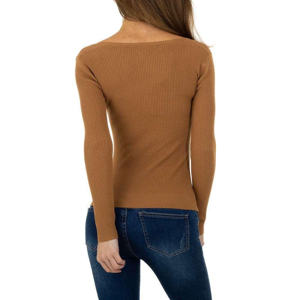 Pulover pentru femei de la Whoo Fashion Gr. O singură mărime - cămilă - image 3
