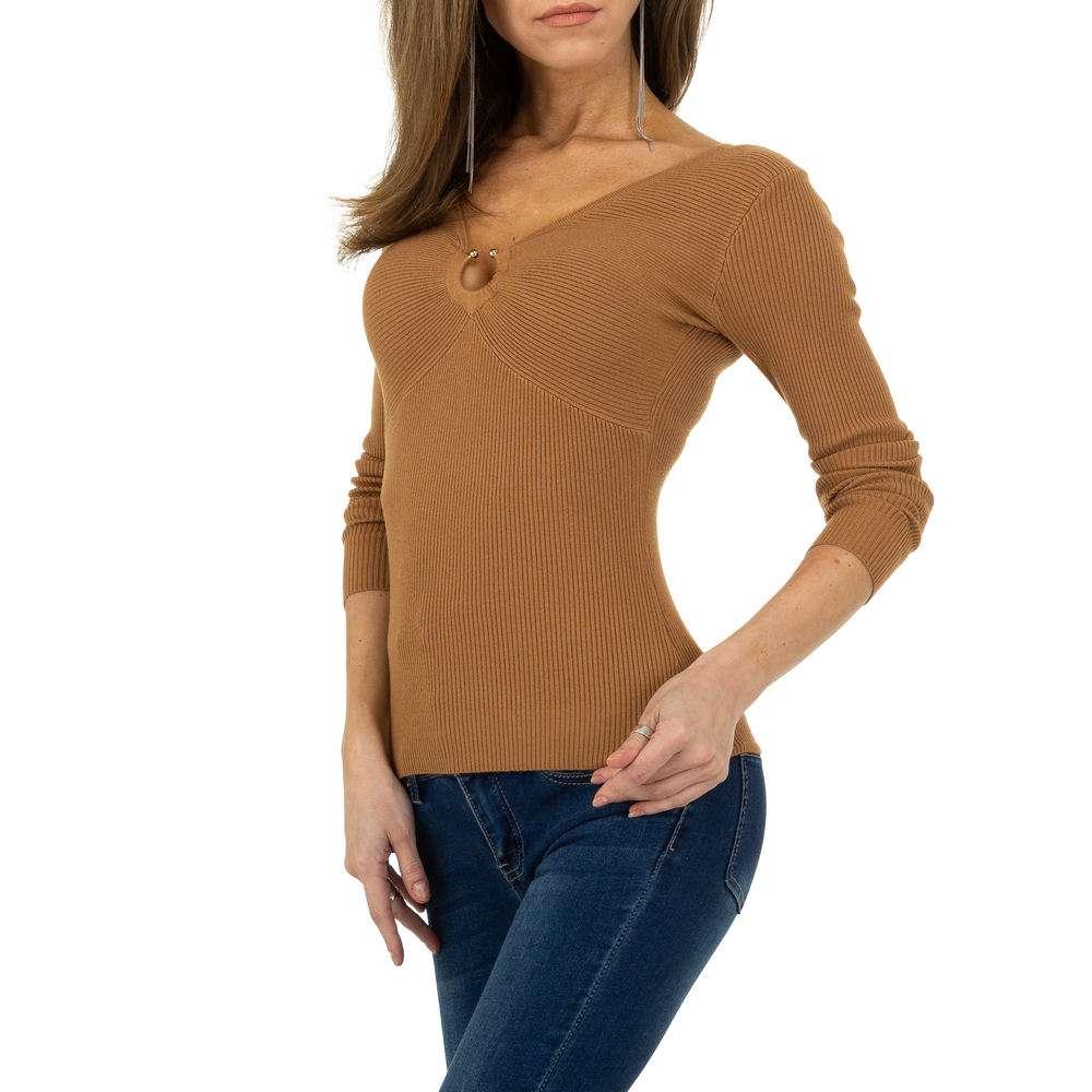 Pulover pentru femei de la Whoo Fashion Gr. O singură mărime - cămilă - image 4
