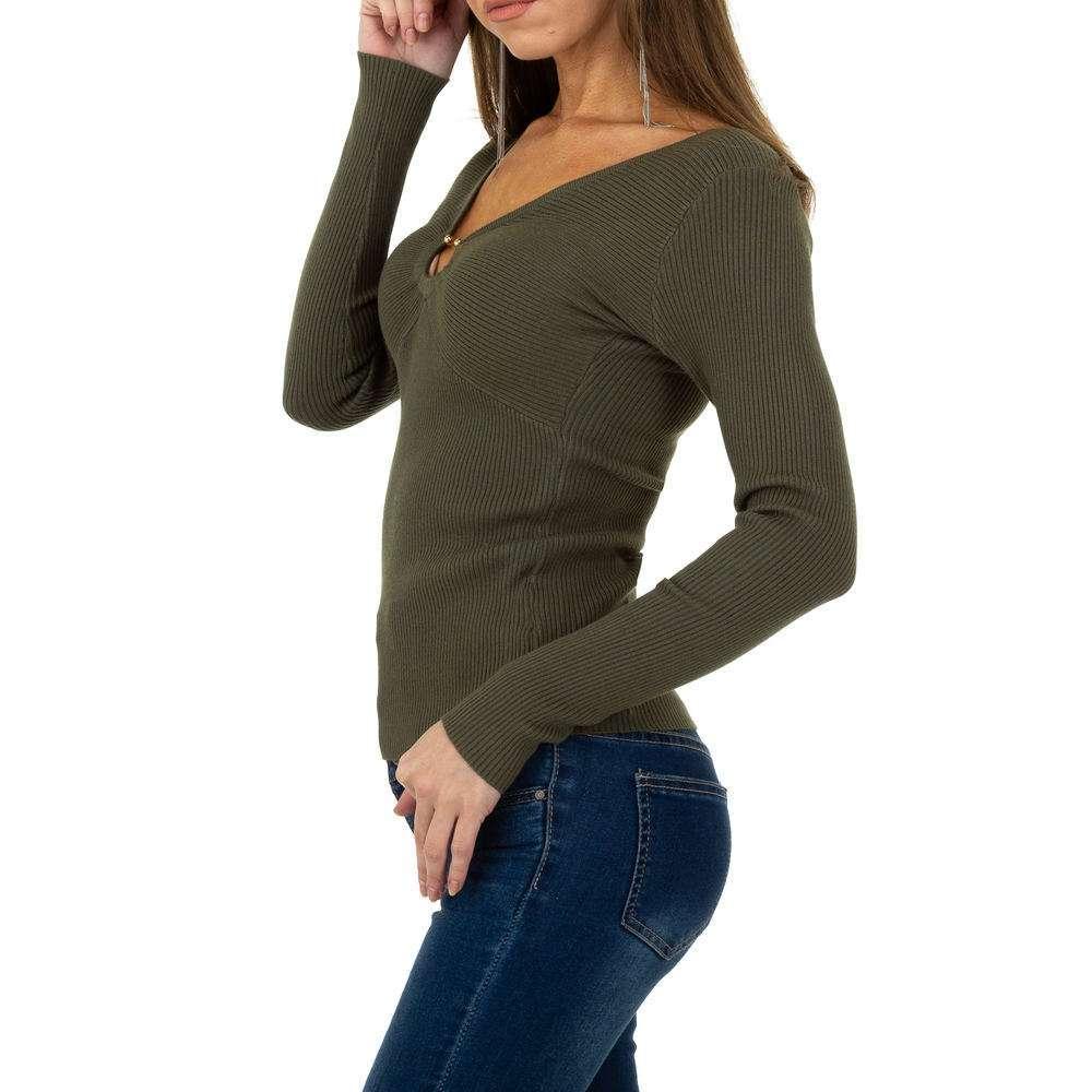Pulover pentru femei de la Whoo Fashion Gr. O singură mărime - kaki - image 2