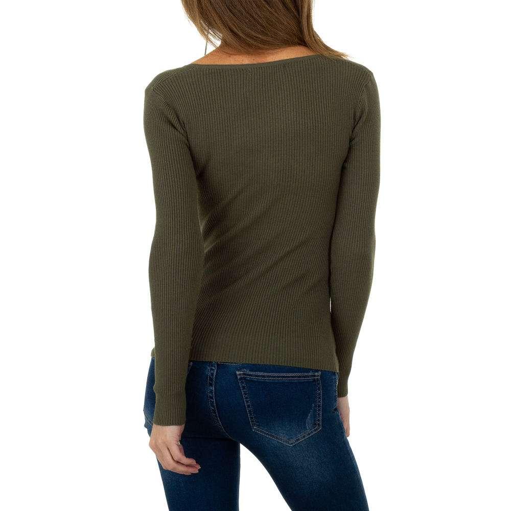 Pulover pentru femei de la Whoo Fashion Gr. O singură mărime - kaki - image 3