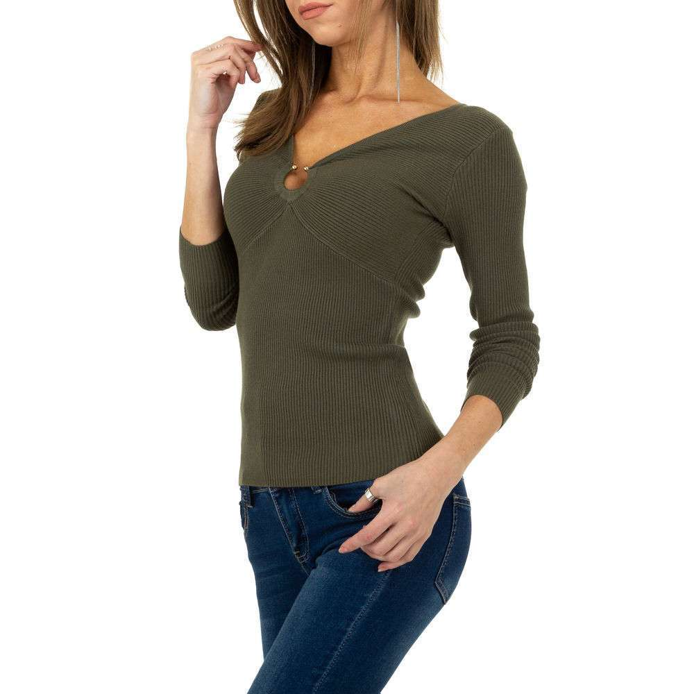 Pulover pentru femei de la Whoo Fashion Gr. O singură mărime - kaki - image 4
