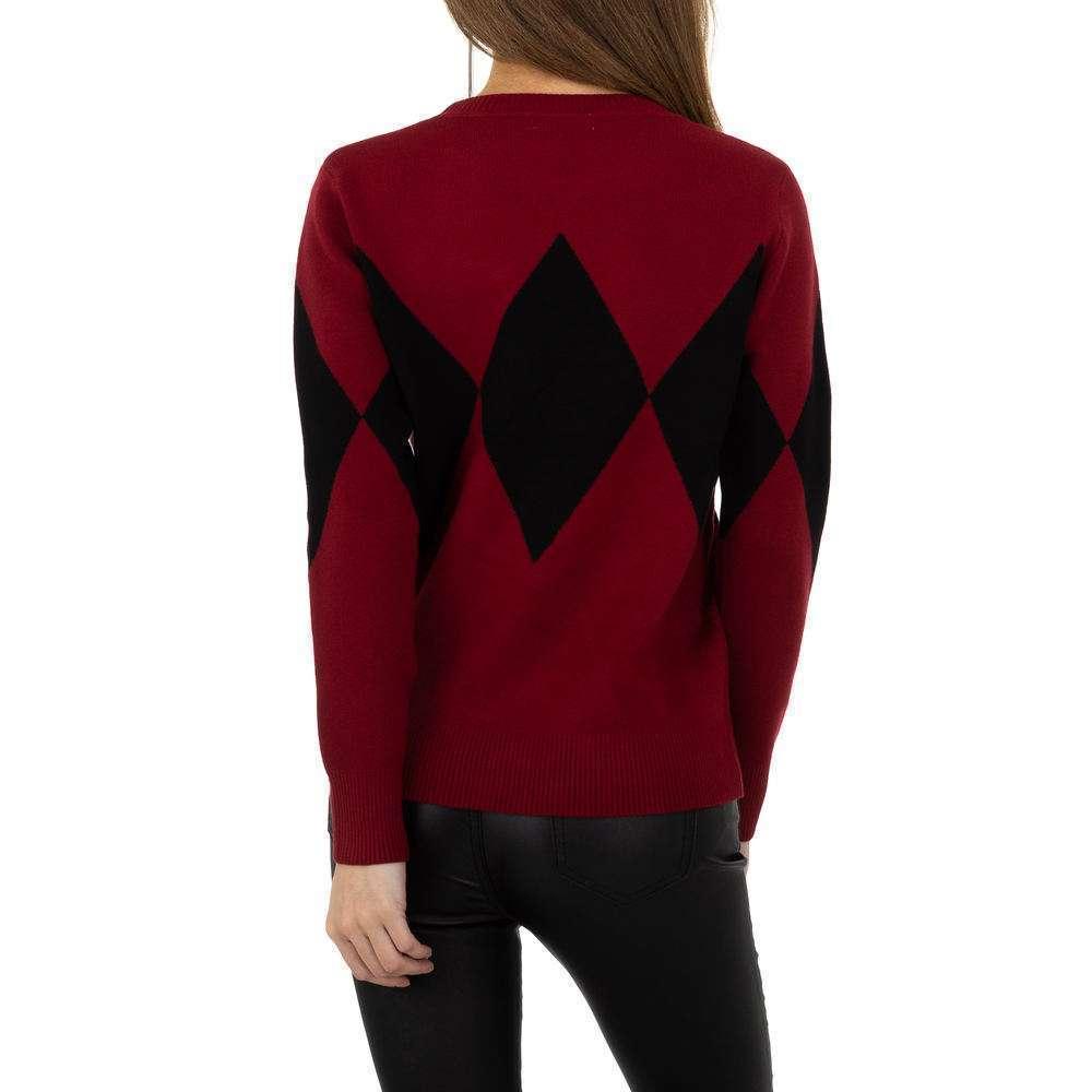 Pulover pentru femei de la Whoo Fashion Gr. O singură mărime - roșu - image 3