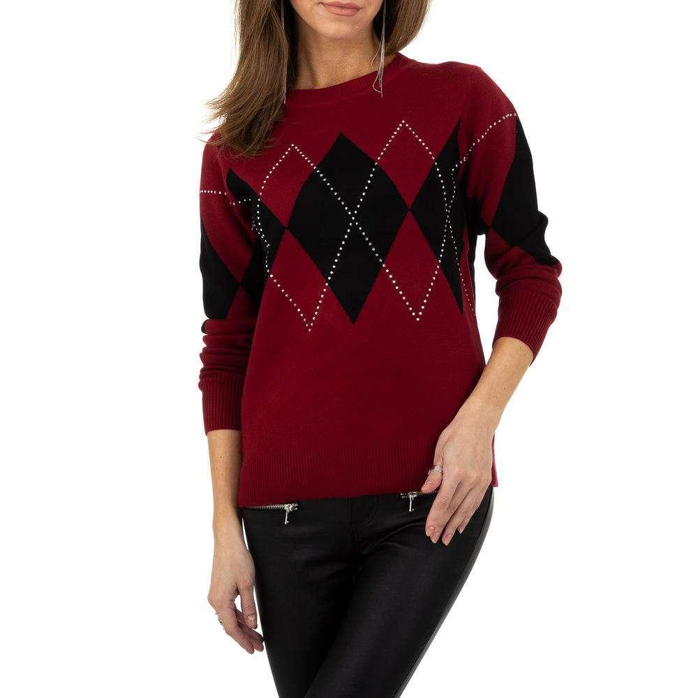Pulover pentru femei de la Whoo Fashion Gr. O singură mărime - roșu - image 4
