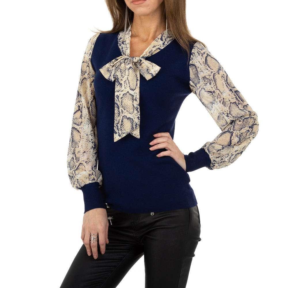 Pulover pentru femei de la Whoo Fashion Gr. O singură mărime - albastru închis - image 1