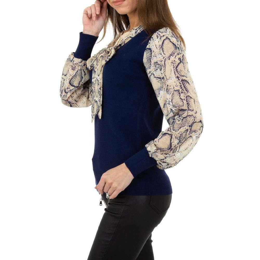Pulover pentru femei de la Whoo Fashion Gr. O singură mărime - albastru închis - image 2
