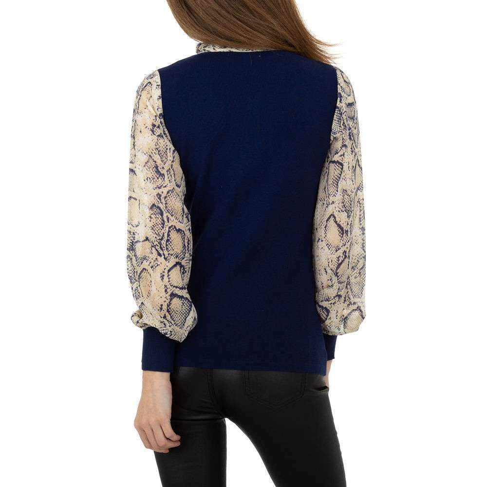 Pulover pentru femei de la Whoo Fashion Gr. O singură mărime - albastru închis - image 3
