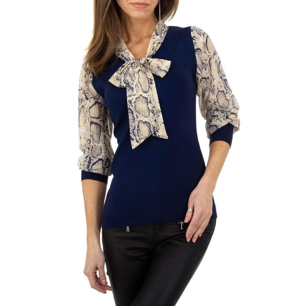 Pulover pentru femei de la Whoo Fashion Gr. O singură mărime - albastru închis - image 4