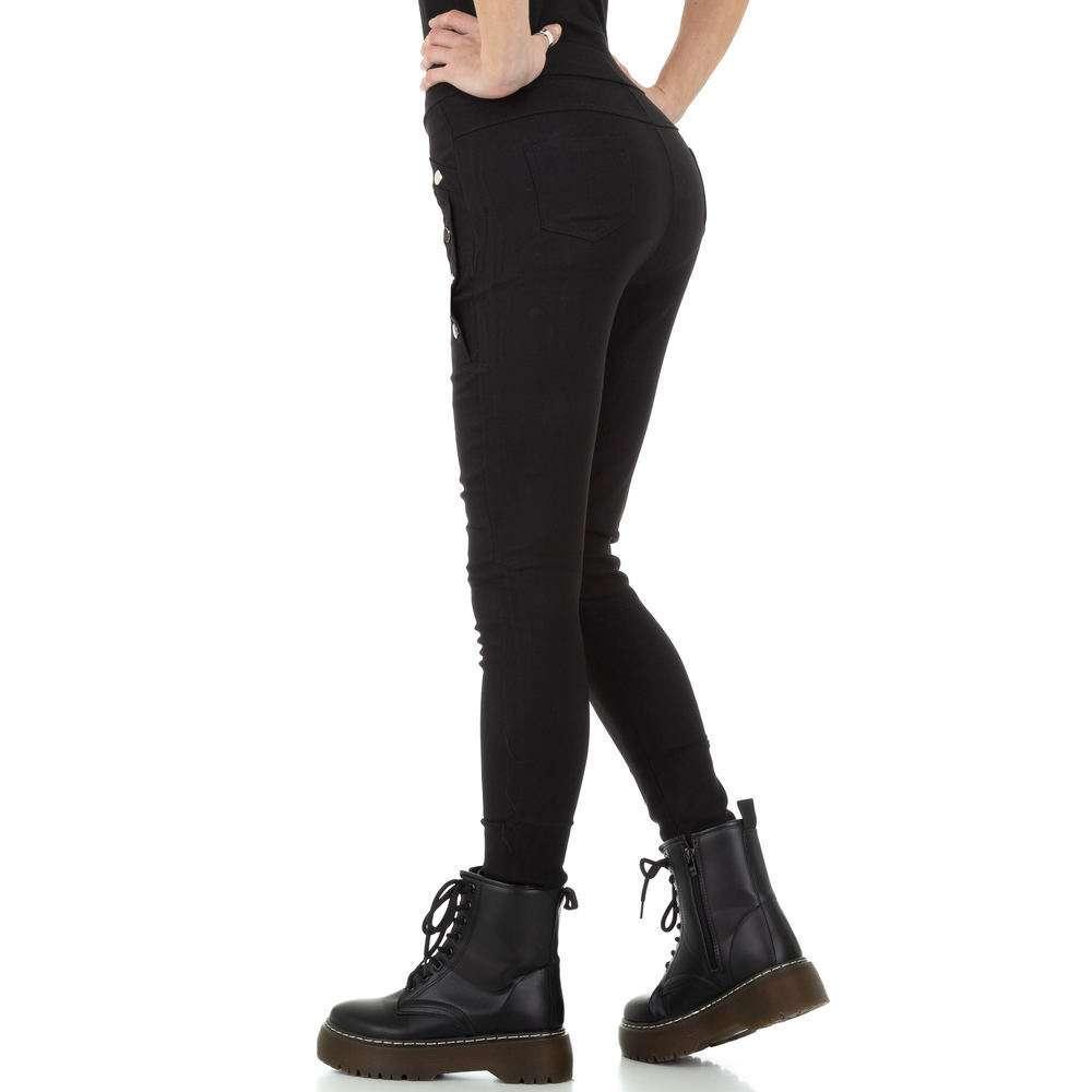 Pantaloni de dama de Holala Fashion - negri - image 3