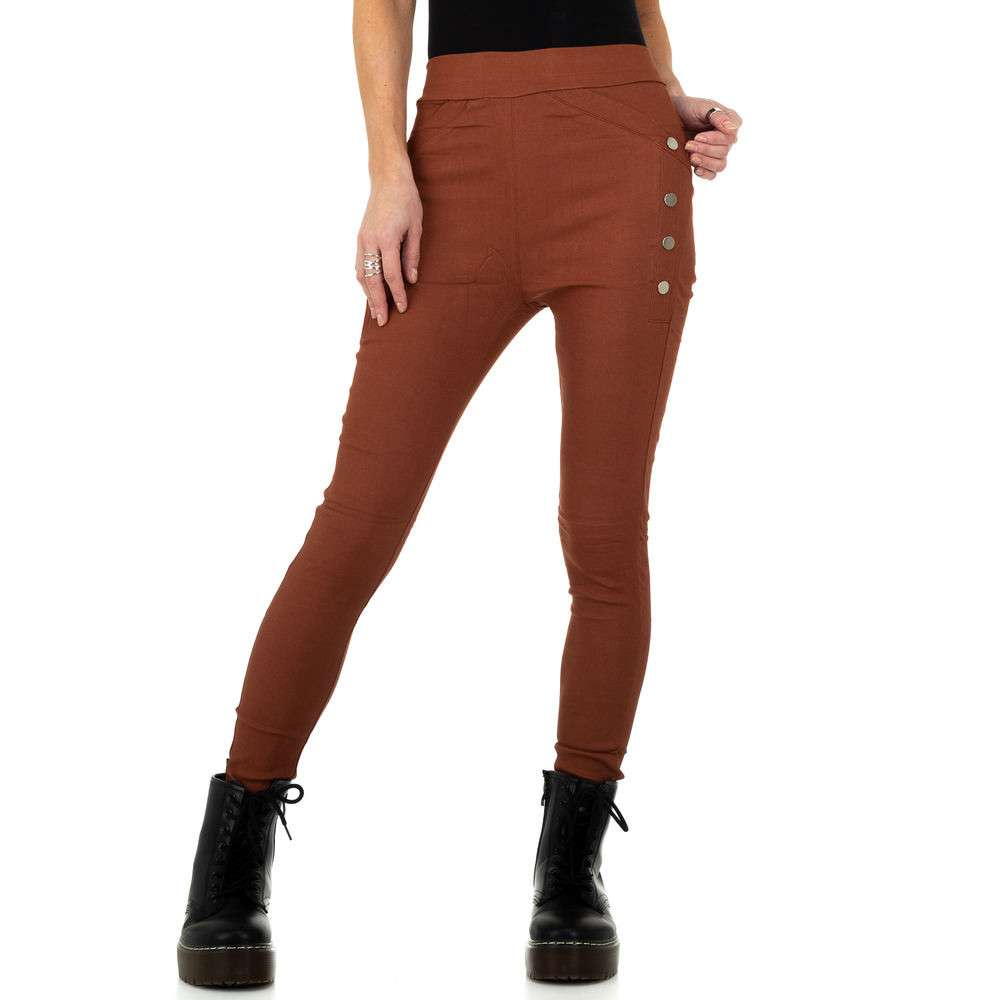 Pantaloni de dama de Holala Fashion - închis orange