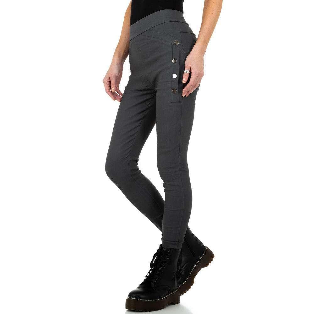 Pantaloni de dama de Holala Fashion - gri - image 2
