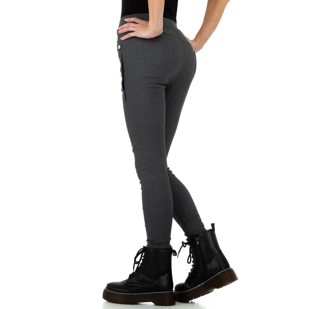 Pantaloni de dama de Holala Fashion - gri - image 3