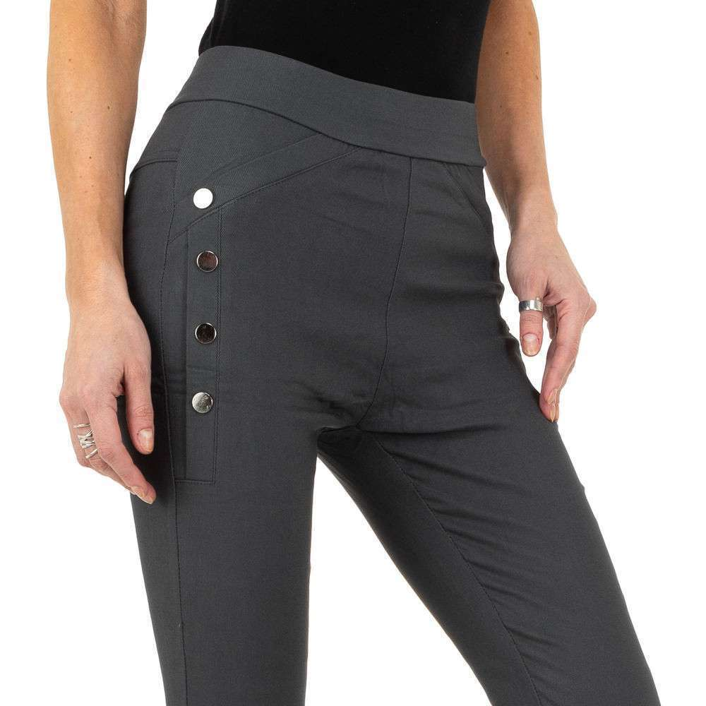 Pantaloni de dama de Holala Fashion - gri - image 4