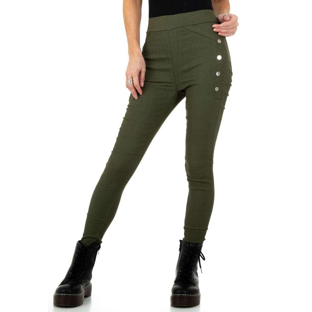 Pantaloni de dama de Holala Fashion - kaki