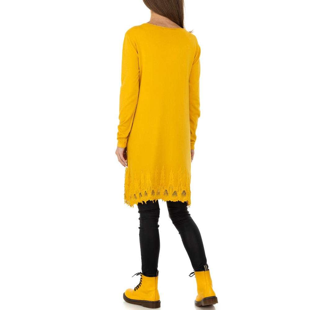 Pulover pentru femei de la Whoo Fashion Gr. O mărime - galben - image 3