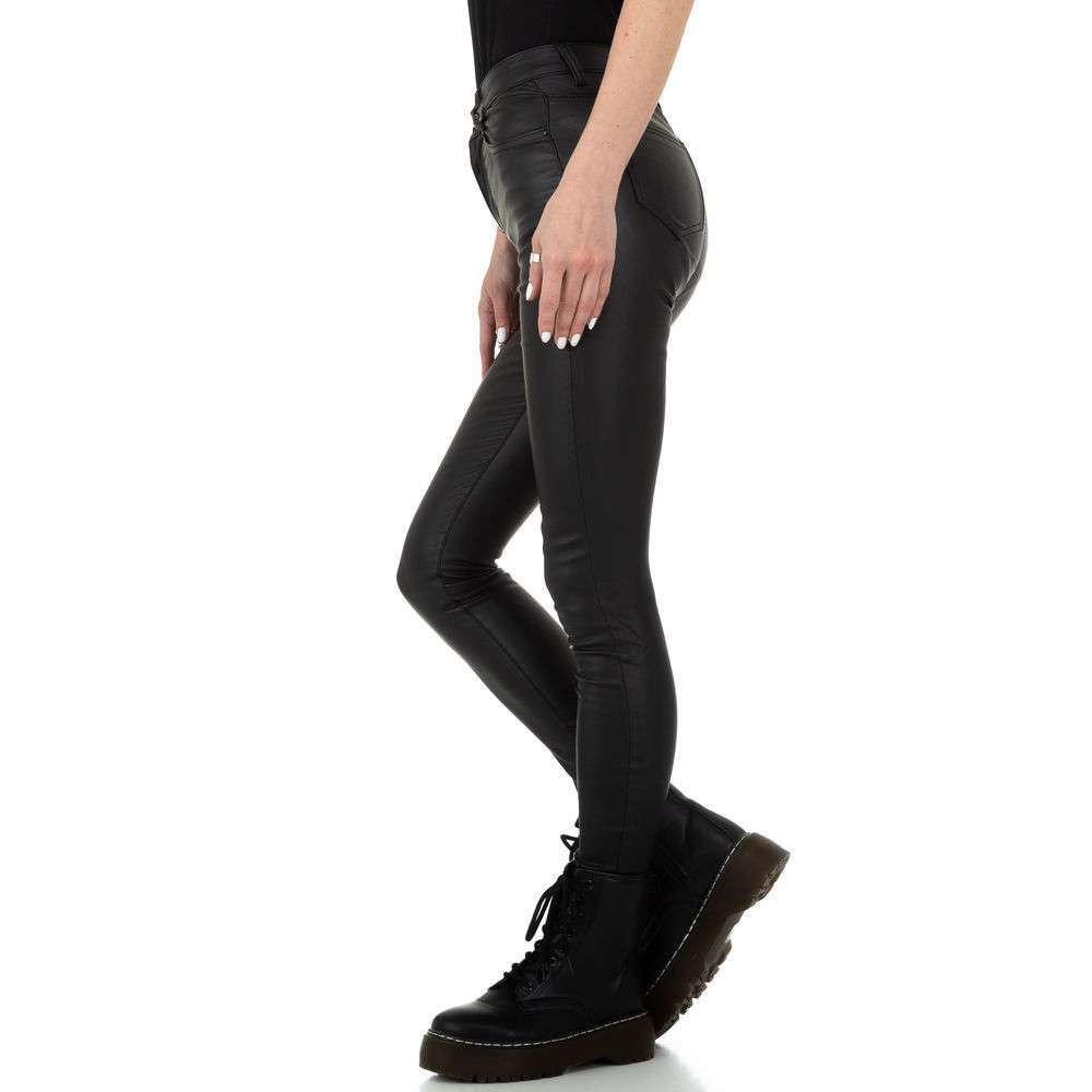 Pantaloni de dama de la Naumy Jeans - negri - image 2