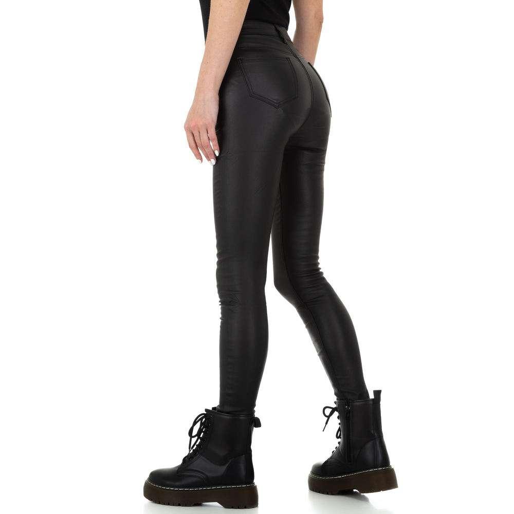 Pantaloni de dama de la Naumy Jeans - negri - image 3
