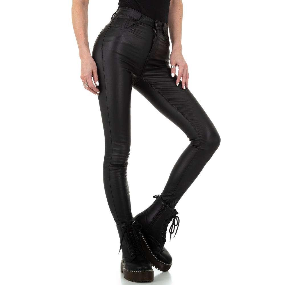 Pantaloni de dama de la Naumy Jeans - negri - image 5