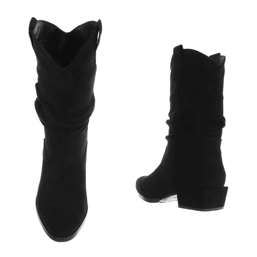 Cizme de damă clasice - negre - image 3