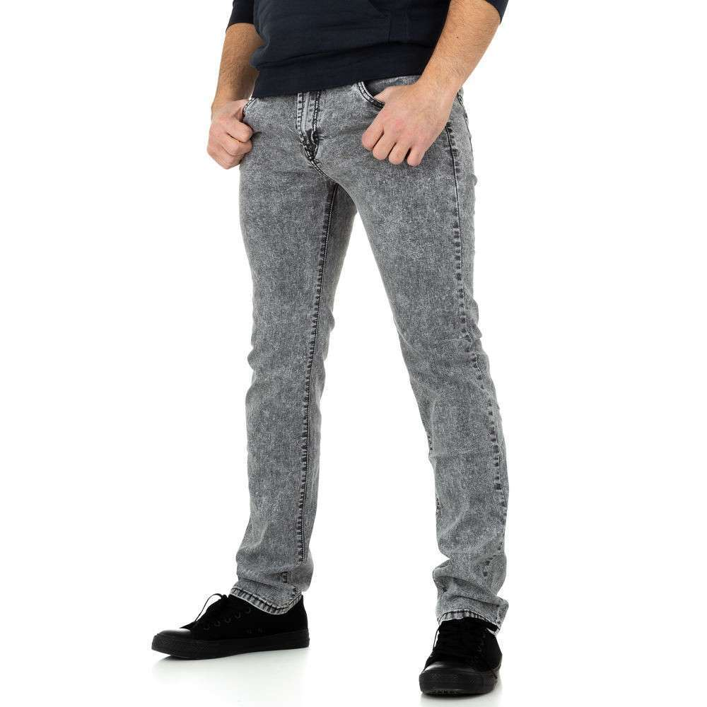 Pantaloni bărbați de M.Sara Denim - gri - image 1