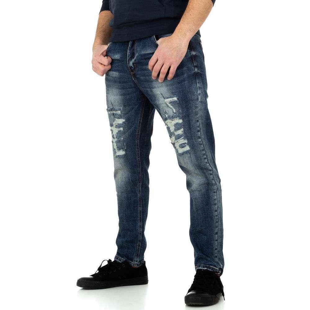 Pantaloni bărbați de M.Sara Denim - albastru - image 2