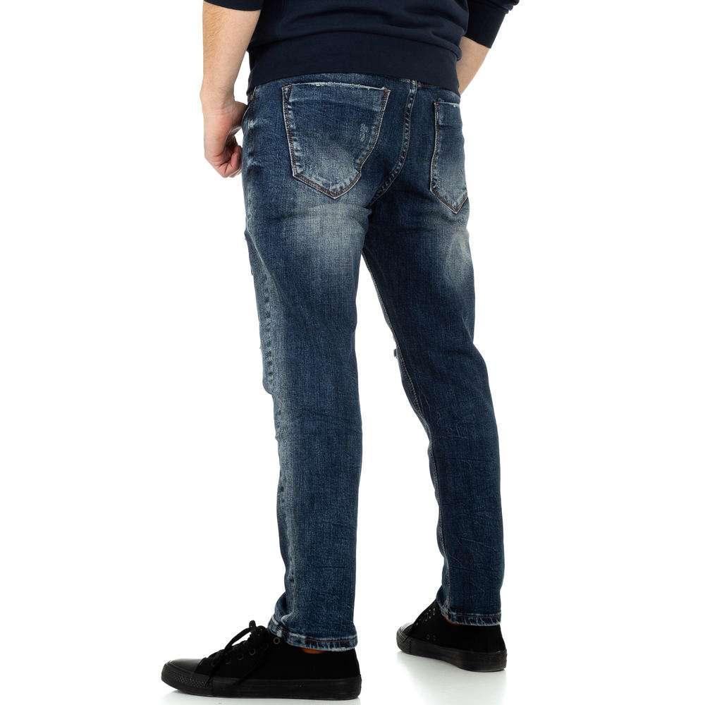 Pantaloni bărbați de M.Sara Denim - albastru - image 3