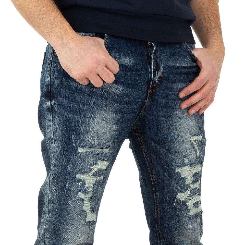 Pantaloni bărbați de M.Sara Denim - albastru - image 4