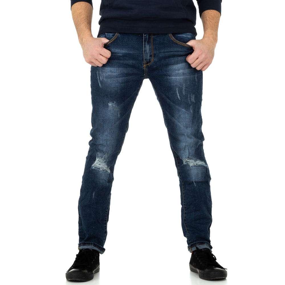 Pantaloni bărbați de M.Sara Denim - albastru