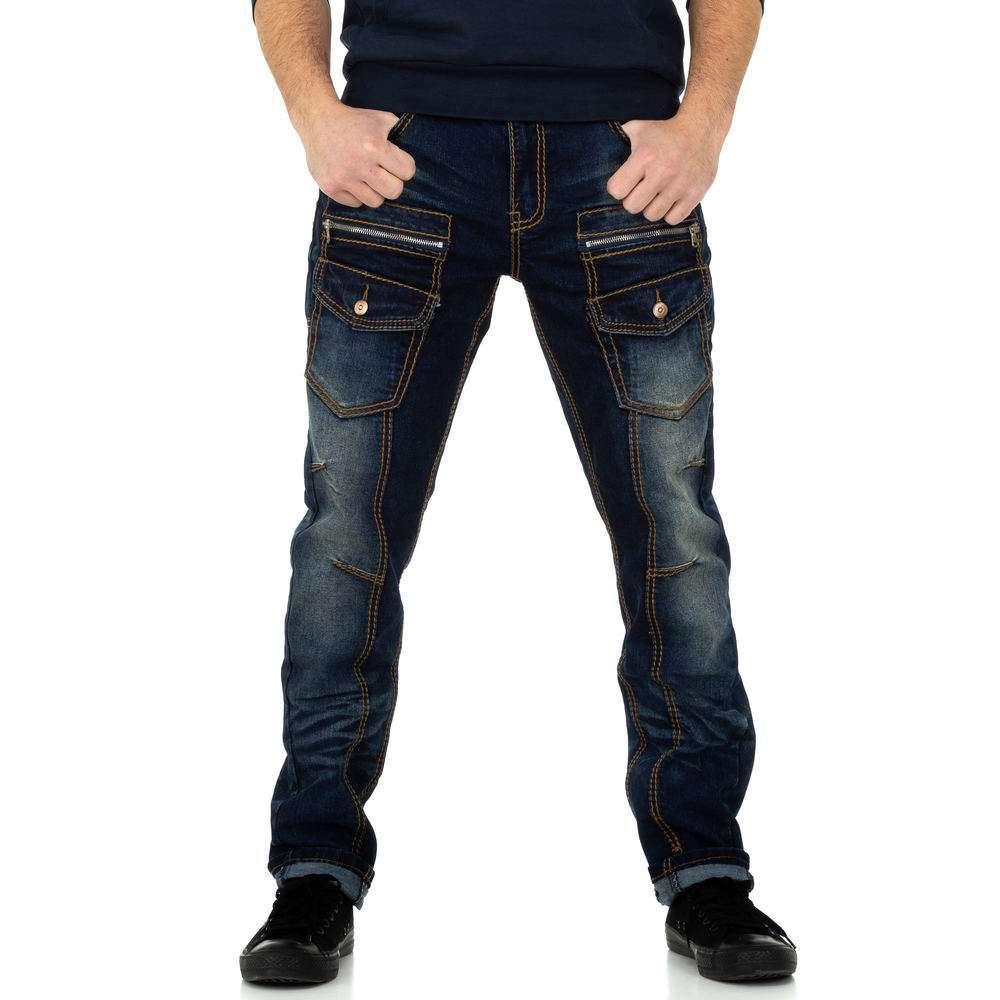 Pantaloni bărbați de M.Sara Denim - albastru închis - image 1