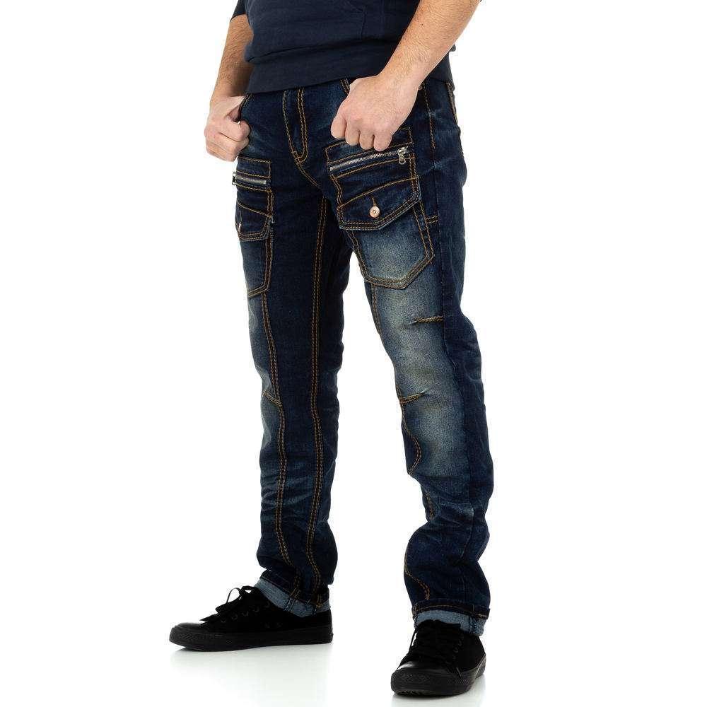 Pantaloni bărbați de M.Sara Denim - albastru închis - image 2