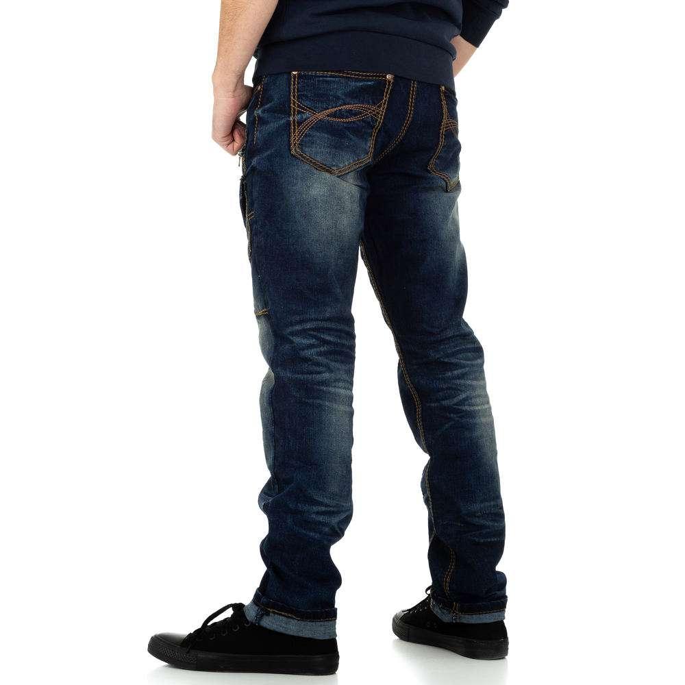 Pantaloni bărbați de M.Sara Denim - albastru închis - image 3