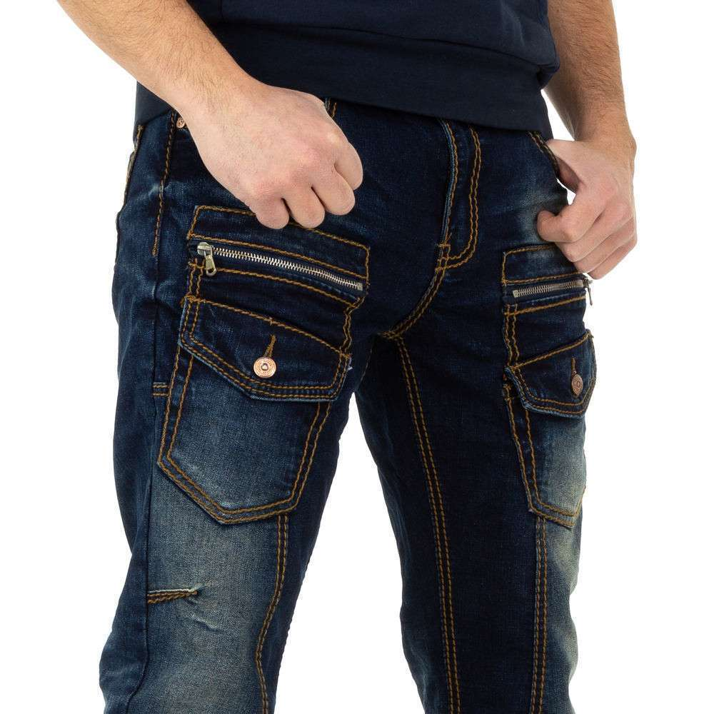 Pantaloni bărbați de M.Sara Denim - albastru închis - image 4